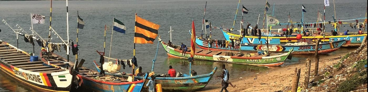 Fishing boats, Sierra Leone